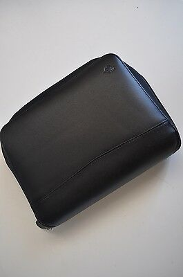 Franklin Covey Leather Planner Space Marker Black Leather Zippered Organizer