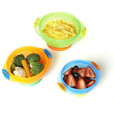 Suction Cup Bowl Set Baby Spill Resistant Tableware Toddler Feeding