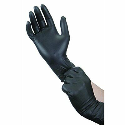 Black Nitrile Disposable Gloves - Latex & Powder Free - Boxed x100 (Large)