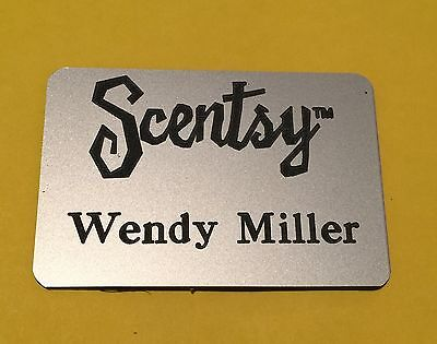 Scentsy Wickless Candles Name Badge Your Color Choice Personalize Free Shipping