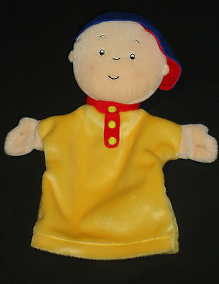 "Caillou  Plush Hand Puppet  Stuffed Plush Doll Toy 10""  Cinar  2001 PBS"