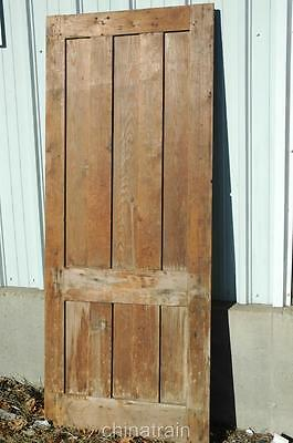 Antique Vintage 1800s Solid Wood 6 Panel House / Barn Outbuilding Door 88x35 7/8