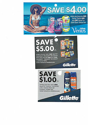 Gillette refill coupons