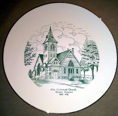 Vintage, Alto Reformed Church, Waupun, Wisconsin - China / Plate - 1855-1955