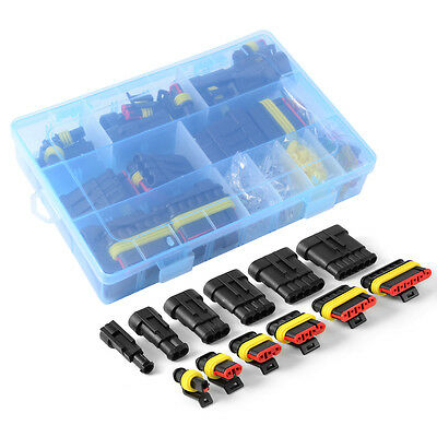 Car Waterproof Electrical Connector Terminal 1/2/3/4/5/6 Pin Way+Fuses New Case