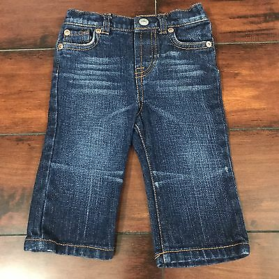 Seven 7 For All Mankind Baby Girl Jeans Size 3/6 Months Dark Wash 100% Cotton
