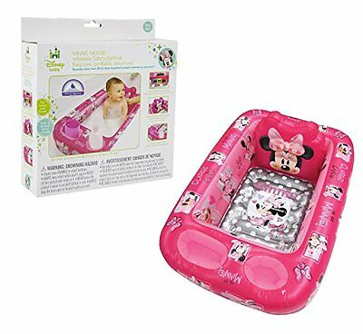 Disney Inflatable Safety Baby Girl Toddler Bath tub Minnie Mouse Pink Non Slip