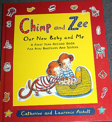 New record Book - CHIMP & ZEE OUR NEW BABY & ME  fill in book for siblings NEW