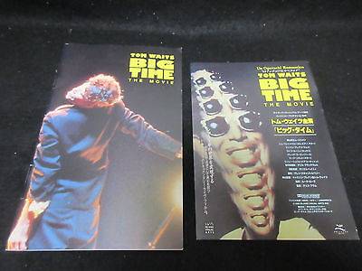 Tom Waits Big Time The Movie Japan Film Program Book with Flyer Mark Ribot