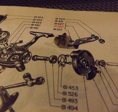 """Mitchell /""""8x10 Copy/""""  Schematic for # 308-309 Garcia Fishing Reel"""