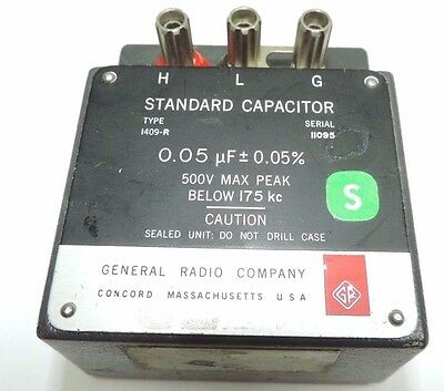 General Radio Company Standard Capacitor 0.05 uF 0.05% type 1409-R fully tested