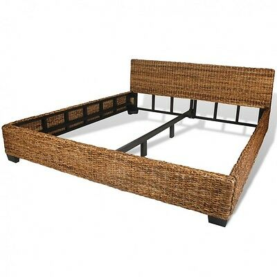 King Size Rattan Bed Frame Exotic Bedroom Furniture Bedframe Headboard Backrest