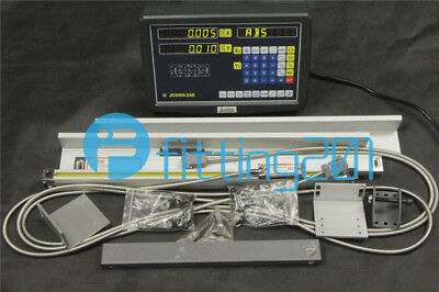 2 Axis Digital Readout For Milling Lathe Machine With Precision Linear Scale New