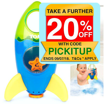Tomy Baby/Toddler Bath Fountain Rocket Water Toy 12+/ Kids Fun Shower/Pool/Beach