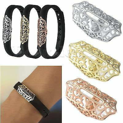 Luxury Bling Stainless Steel Decoration Charm for Fitbit Flex 2 Fitness Tracker
