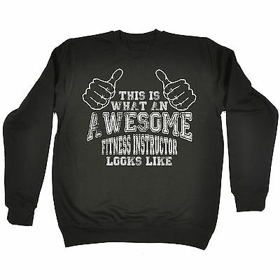 Awesome Fitness Instructor SWEATSHIRT jumper birthday personal trainer gym funny