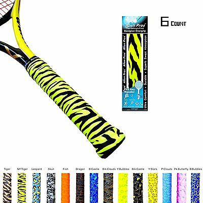 Alien Pros X-Tac Tennis Squash Racquetball Overgrip Tape 6-pack - Tiger NY