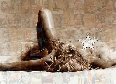 FARRAH FAWCETT 2015 photo mosaic cm. 31x42 poster with a lot of pics B