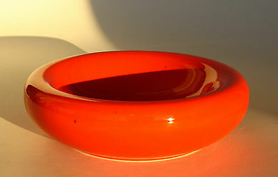 Coupe rouge-orange,vide-poche,Ceramiche Montecatini,1950-60, Italy