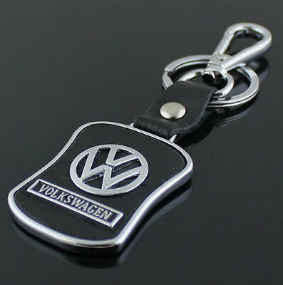 Car Key Ring Chain Keychain Keyring Leather Metal for Volkswagen VW Polo Golf CC