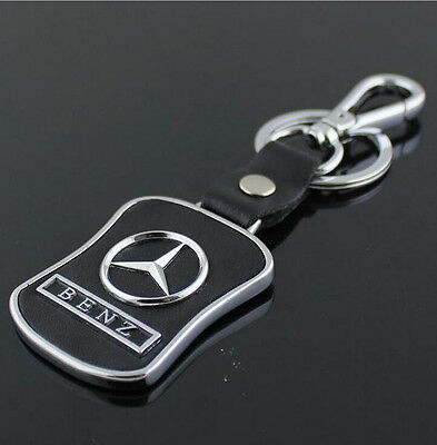 Car Key Ring Chain Keychain Keyring leather Metal for Mercedes Benz B C E S AMG