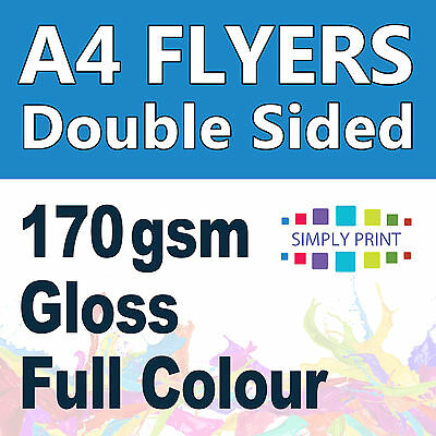 2000 A4 Flyer Printing double sided 170 gsm Gloss Stock - Flyers