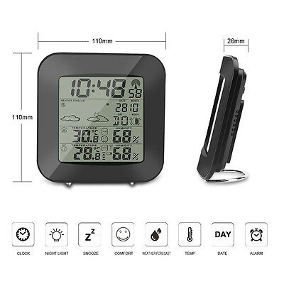 Digital Wireless Indoor Outdoor Weather Station Forecast Temperature Humidity H