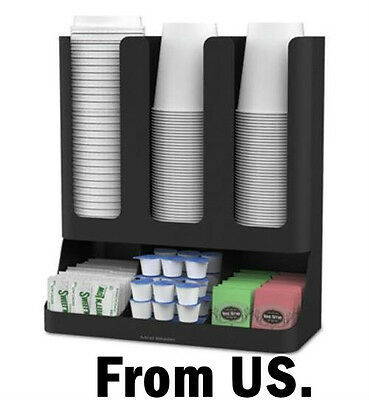 Lid and Cup Dispenser Coffee Caddy Pod Organizer Tea Box Wall Station System NEW