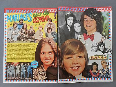 ►Clipping - Coupure De Presse : Osmond  - 2 Pages - 1975