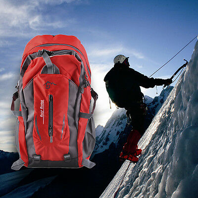 Mountaineering 40L Water Nylon Shoulder Bag Unisex Travel Hiking Backpack lot BE