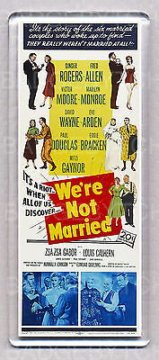 WE'RE NOT MARRIED movie poster LARGE 'WIDE' FRIDGE MAGNET - EARLY MARILYN MONROE
