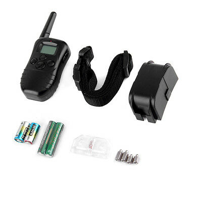 Waterproof 300M 100LV LCD Remote Dog Pet Training Collar Shock Vibrate BE