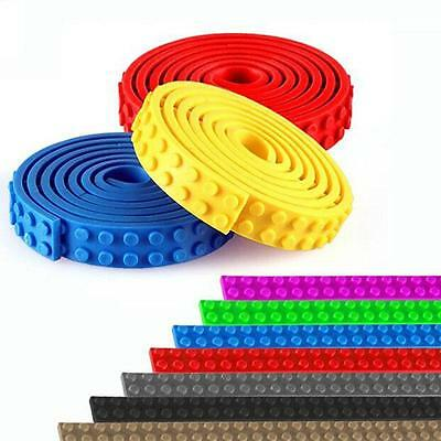 Lego Compatible Bendable Tape Flexible Adhesive Strips 4 ROLLS!