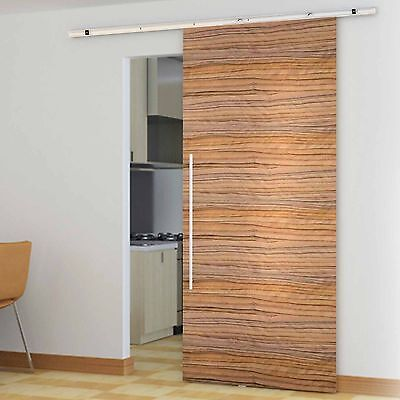 1.86M Sliding Barn Door Hardware NO JOINT Track Set Interior Closet Home Office