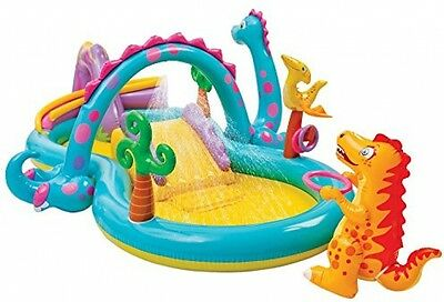 Outdoor Kids Inflatable Garden Paddling Pool Water Slide Play Centre Summer NEW