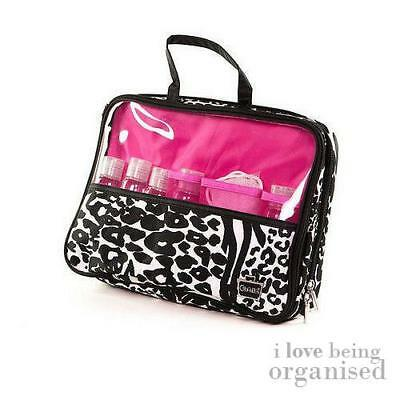 Patterened Sleepover Overnight Travel Bag with 5x Travel Bottle and 1x Pouf