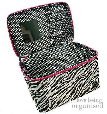 Small Nail Technician Carry Case | Caboodles Gilded Pleasure Nail Organiser Zebr
