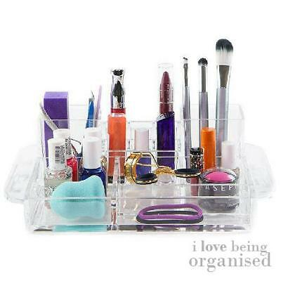 Large Acrylic Beauty Organiser 14 Compartments | Caboodles Two Tower Tray 14 Com