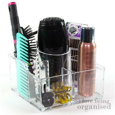 Luxury Medium Clear Acrylic Beauty Makeup Organiser 6 Compartments