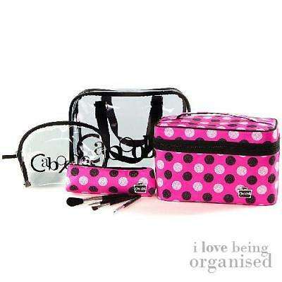 Caboodles Bag Overnight Polka Dot Tote Pink Travel Large Weekender