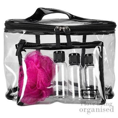 Caboodles 6 Piece Travel Bag Set | Overnight PVC Toiletry Organiser | Travel Bot