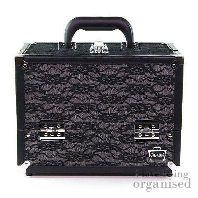Elegant Black Lace Large Makeup Cosmetic Organiser | Caboodles Make Me Over 4 Tr
