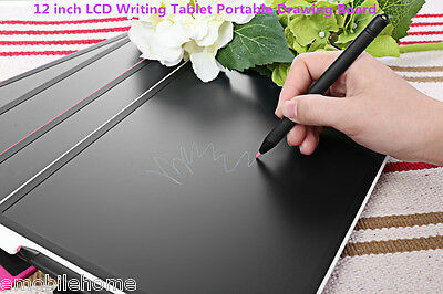 12 inch Portable LCD Writing Drawing Tablet Memo Message Board Black