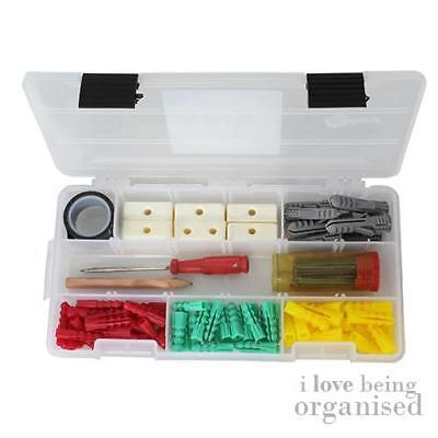 Small Plastic Compartment Box Fishing Tools Organised   Black Latch Creative Opt