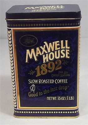 Vintage Maxwell House 1892 100 Year Anniversary Coffee Tin 16 Oz Empty