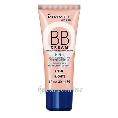 Rimmel London BB Cream 9-in-1 Skin Perfecting Make up SPF 25 Light 30ml |1 fl oz