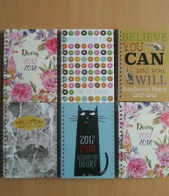 2017-2018 A6 ACADEMIC Diary Planner Spiral wiro Ring bound hardback Week to view