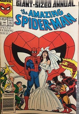 Marvel Comics -Giant- Sized Annual -The Amazing Spider-Man #21 1987 #k5