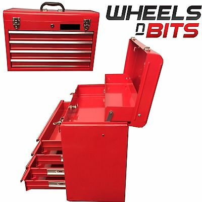 """NEW Tool Box Metal Mobile Top Chest Storage Cabinet Handle 4 Drawer Workshop 22"""""""