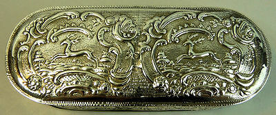 Antique Dutch Silver Tobacco Box With Date Marks For 1884 - 140 Grams